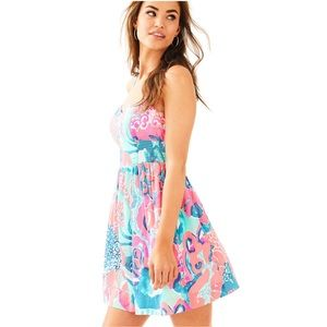 Lilly Pulitzer Christine dress in Coral Reef 4